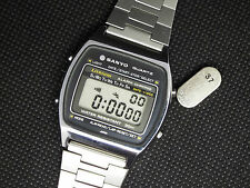 Rare Vintage SANYO Digital Watch LITHIUM ALARM CHRONO 3083990 M250 80s LCD WORKS