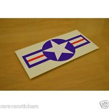Americana 'USAF'  Car Caravan Sticker Decal Graphic - SINGLE