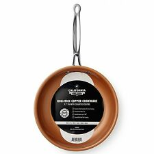 Copper Frying Pan Non Stick Fry Skillet Chef Ceramic 9.5 Inch Cookware Round New