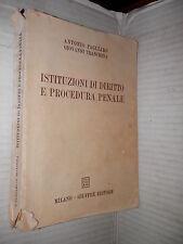 ISTITUZIONI DI DIRITTO E PROCEDURA PENALE Pagliaro Tranchina Giuffre 1984 libro