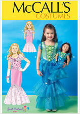 McCall's 7175 Sewing Pattern to MAKE Mermaid Costume for Child Ages 3-8 & Doll