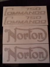 NORTON COMMANDO 750 DECALS IN GOLD