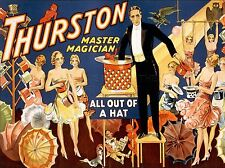 ART PRINT POSTER THEATRE STAGE MAGICIAN ALL OUT HAT MASTER USA NOFL1073