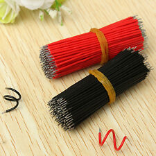 New 400pcs Motherboard Breadboard Jumper Cable Wires Tinned 6cm Black & Red Set