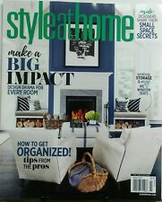 Style At Home March 2017 Make A Big Impact Design Drama Rooms FREE SHIPPING sb