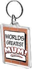 Worlds Greatest Mum Acrylic Keyring Key Ring Range Mother Mummy World