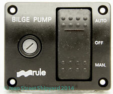 Marine Boat 3 Way Lighted Switch Bilge Pump Switch Electrical 12V Rule 43