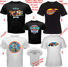 T-Shirt All Size S,M,L~5XL,Kids,Baby Paw Patrol & Blaze and The Monster Machines