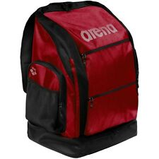 New Arena Navigator Large Backpack Water Resistant Swimmer Red Black MSRP $65