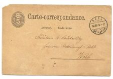 CPA ENTIER POSTAL SUISSE BERN 1875