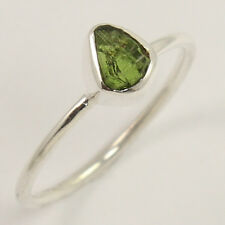 Natural GREEN TOURMALINE OctoberBirth Gems 925 Sterling Silver Ring Size US 7.75
