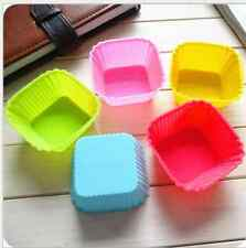 5pcs DIY Silicone Ice Cube Chocolate Cake Cookie Cupcake Soap Candy Molds 062