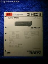 Sony Service Manual STR GX211 Receiver (#0440)