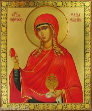 "Mary Magdalene Large Russian Orthodox Wood Icon 15 7/8"" x 13 1/8"" IR213"