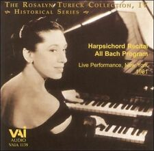 Rosalyn Tureck Collection Iv, Harpsichord Recital  CD NEW