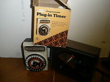 lot of 2 vintage timers Sears Best Plug-in Timer with box, GE Home Sentry Timer