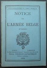 Notice sur l'armée belge / 1886