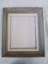 cadre bois patiné gris  montparnasse  feuillure 24 cm x 20 cm frame