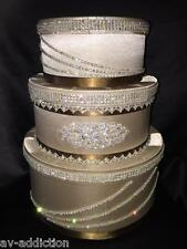 Wedding Money Box Sweet 16 Money Gift Box Bday Swarovski Box Cappuccino New