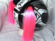PINK HELMET PIGTAILS / PIG TAILS  Pink ..MOTORCYCLE,SKATEBOARD, BIKE or ATV