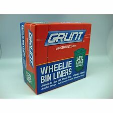 Grunt WHEELIE BIN LINERS 240L, 20Pcs, Easy Tear Off Bags BLACK *Aust Brand