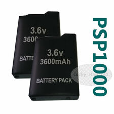 2 pack 3600mAh Battery for Sony PSP 1000 Fat 1003 1004 Rechargeable Battery