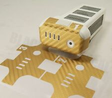 DJI Phantom Gold Carbon Fiber Battery 1-3 Skin Stickers Graphic Wrap Decal p3