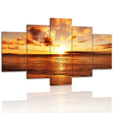 5pc Set Large Seaside Sunset Canvas Print Wall Art Painting Craft NO frame #2