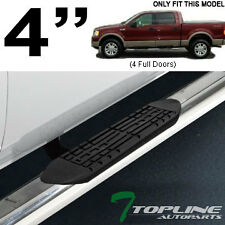 "4"" OVAL CHROME SIDE STEP NERF BARS rail running boards 2004-2008 F150 CREW CAB"