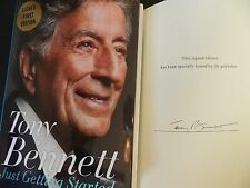 Tony Bennett SIGNED book Just Getting Started Hardcover Autograph