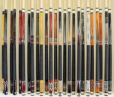 "LOT OF 25 POOL CUES New 58"" Canadian Maple 2-PIECE Billiard Stick FREE SHIPPING"