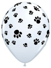 "Paw Print 11"" Latex Balloons X 5 Animal Dog Birthday Party Decorations Cat"