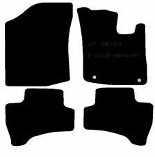 Citroen C1 12-14 2 Clip versión completamente ajustados Auto Negro Mate eficiente