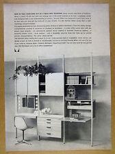 1961 Herman Miller Bedroom Vanity Wall furniture unit photo vintage print Ad