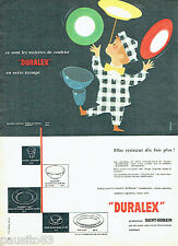 PUBLICITE ADVERTISING  026  1958  Duralex Saint-Gobain assiettes couleur Camps