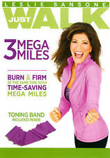 Leslie Sansone: 3 Mega Miles with Toning Band New DVD! Ships Fast!