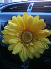 VW beetle yellow gerbera, dash board bud vase flower, universal