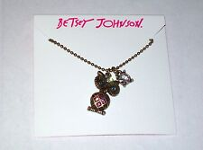 "NWT Betsey Johnson ""Mini's"" Owl Pendant Necklace"