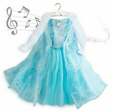 Disney's Frozen Princess Elsa Singing Musical Costume Gown Dress 7/8 Let It Go