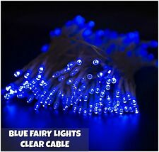 42M 600 LED Blue Fairy Christmas String Lights Indoor Outdoor Tree Garden Xmas