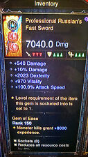 Diablo 3 modded weapons level 1 - 70 IN MINUTES xbox one SOFTCORE legendary item