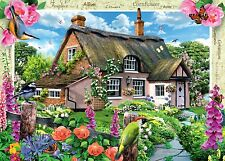 NEW! Ravensburger Foxglove Cottage 1000 piece country jigsaw puzzle