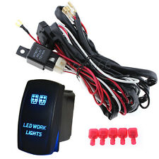 12V Waterproof ON/OFF Laser LED Work Light Switch Relay Wiring Harness Kit