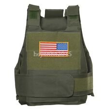 TACTICAL AIRSOFT PAINTBALL BODY ARMOR VEST OD GREEN NEW -T50