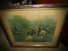 "VNTG. PRINT OF HORSES AND CHILDREN CALLED ""THE LIGHT LOAD"" EARLY 1900'S"