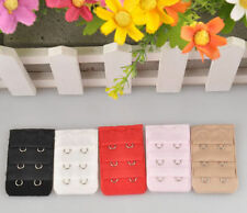 Fashion Women 2 Hook 3 Rows Bra Strap Back Band Extenders Extension Buckles 5Pcs