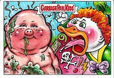 GARBAGE PAIL KIDS ADAM GEDDON DUAL ARTIST SKETCH CARD JON GREGORY SMOKIN JOE