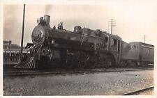 A67/ Alberta Canada Postcard Real Photo RPPC c1910 C.P.R. Railroad Steam Loco
