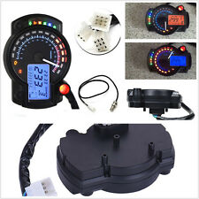 High Quality Dual Color Motorcycles LCD Digital Speedometer Tachometer Gauge Kit