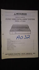 mitsubishi lt-1000 service manual a/v stereo record player turntable system